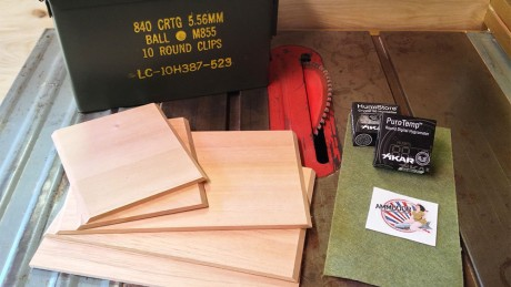 Ammodor DIY ammo can cigar humidor kit plans