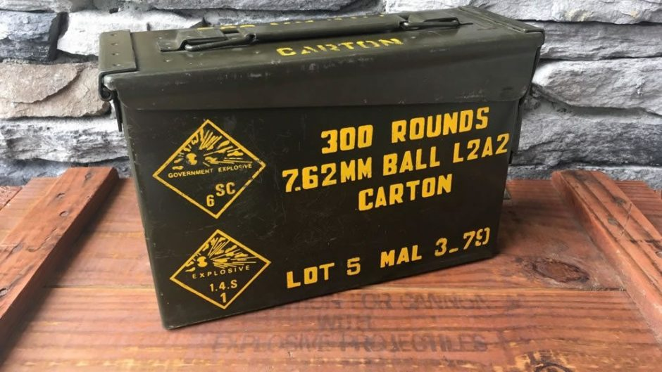 Vintage 30 Ammodor cigar humidor